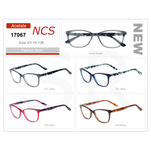 New Attractive Unisex Acetate Frame Hot Sell Glasses