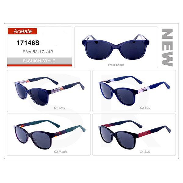 Classic Design Small Order Acetate Frame Sunglasses
