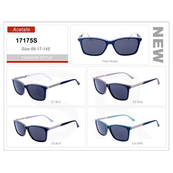 New Design Product Small Order Acetate Frame Retro Sunglasses