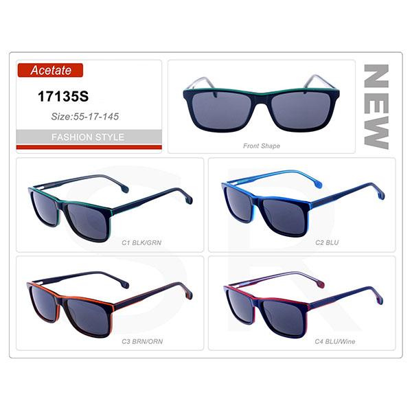New Popular Design Small Order Acetate Frame Sunglasses