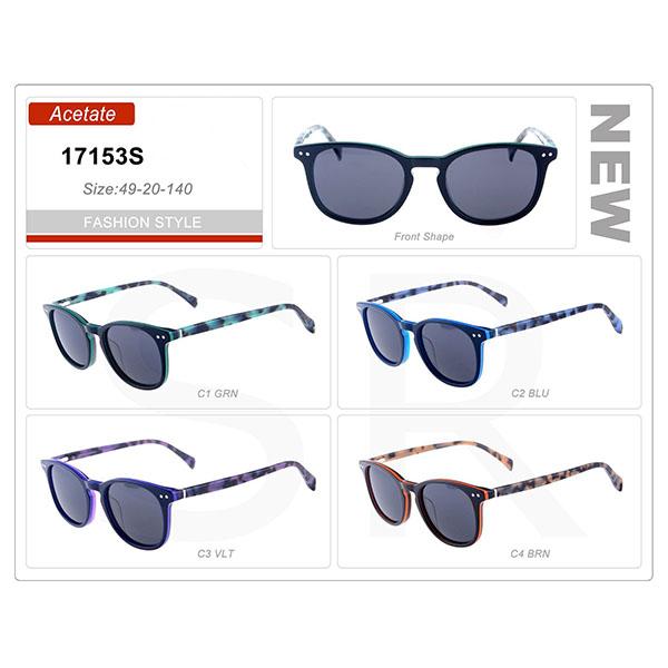 New Model Stock Small Order Acetate Frame Sunglasses