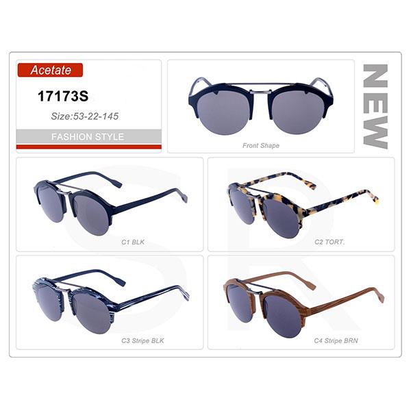 New Designer Small Order Acetate Frame Sunglasses