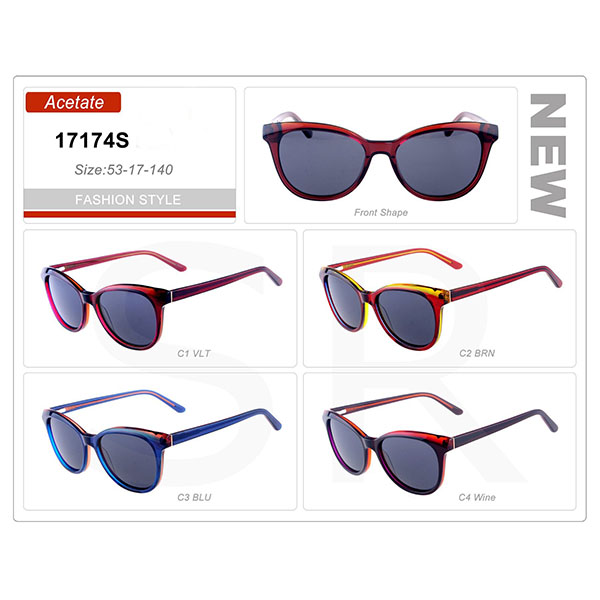 Newest Designer Model Small Order Acetate Frame Sunglasses