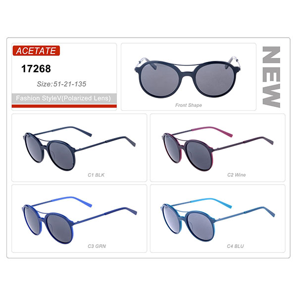 Acetate Small Order Frame Sunglasses