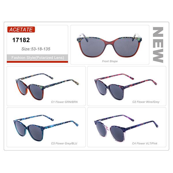 Classic Design Ready Stock Acetate Frame Sunglasses