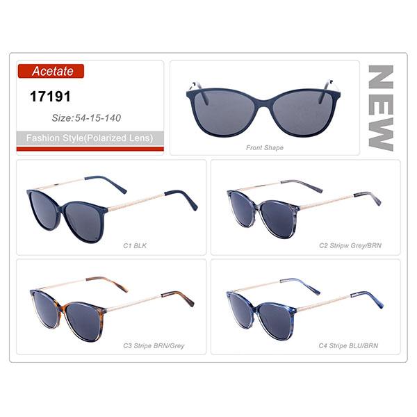 Classic Style Ready Stock Acetate Frame Retro Sunglasses