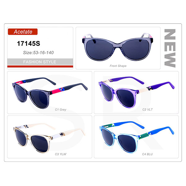 Classic Style Small Order Acetate Frame Sunglasses