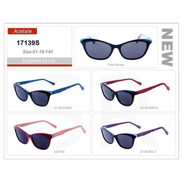 Fashion Design Wholesale Small Order Acetate Frame Sunglasses