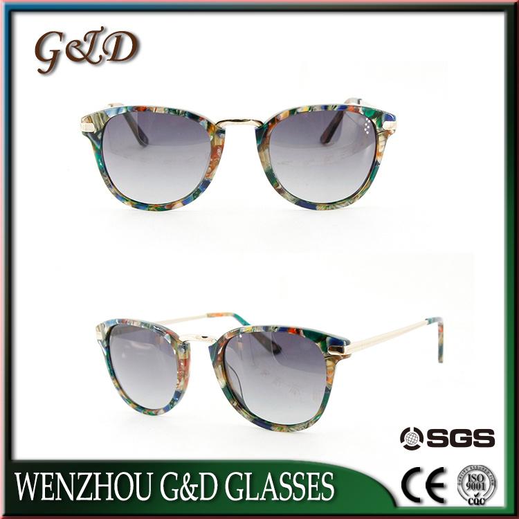 Hot Selling Model Acetate Frame Vintage Sunglasses