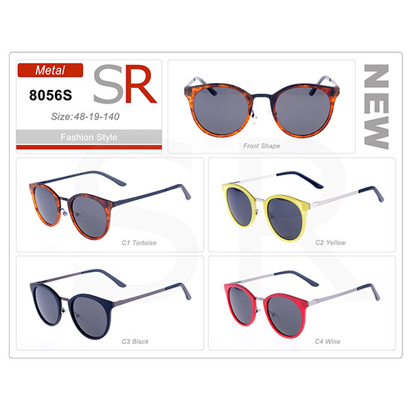 Classic Style Frame Acetate Small Order Sunglasses