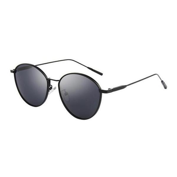 Fashion Design Acetate Frame Round Black Sunglasses