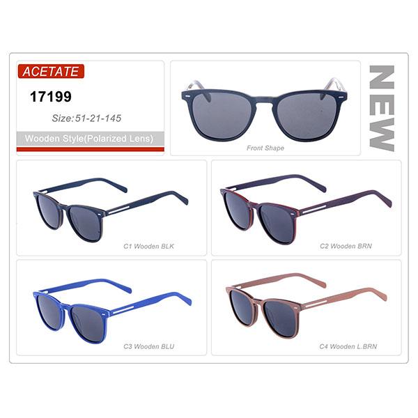 New Design Style Stock Acetate Frame Sunglasses