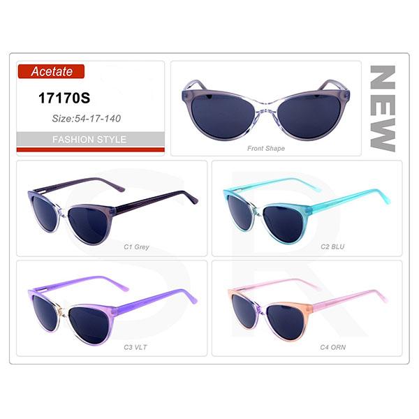 New Design Model Small Order Acetate Frame Sunglasses