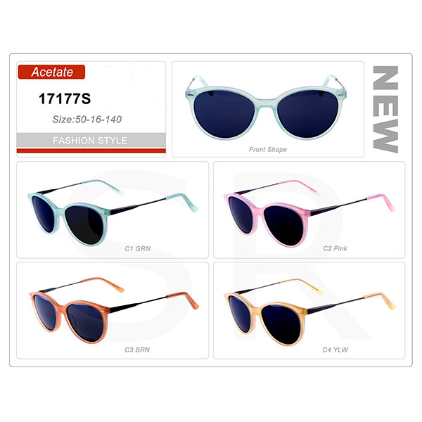 New Style Small Order Acetate Frame Sunglasses