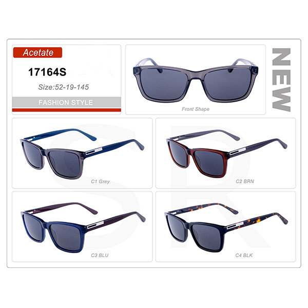 New High Quality Product Small Order Acetate Frame Sunglasses