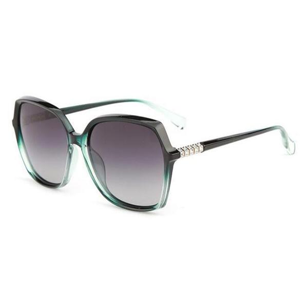 New Model Acetate Frame Black Polarized Sunglasses