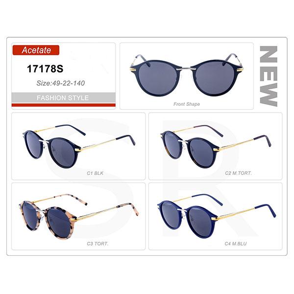 New Model Small Order Acetate Frame Retro Sunglasses