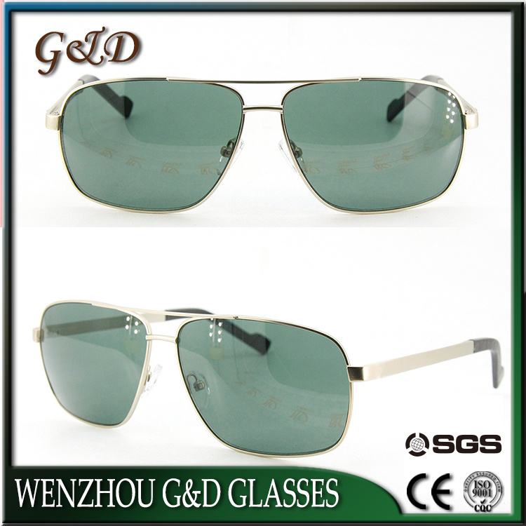 New Style Design Metal Frame Silver Sunglasses