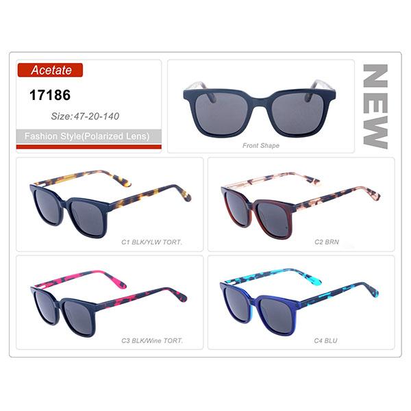New Style Model Ready Stock Acetate Frame Sunglasses