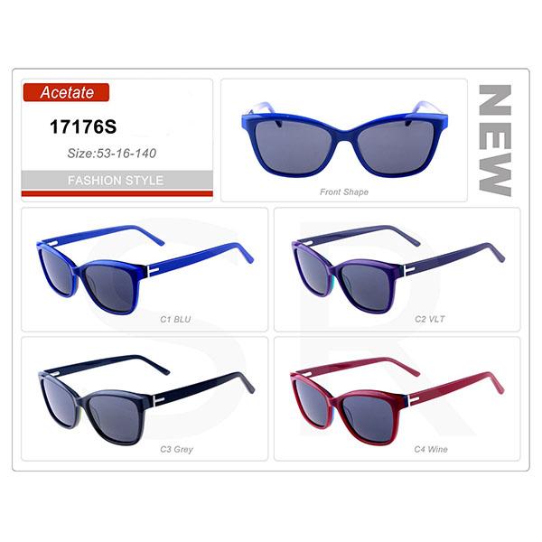 Newest Model small Order Acetate Frame Vintage Sunglasses
