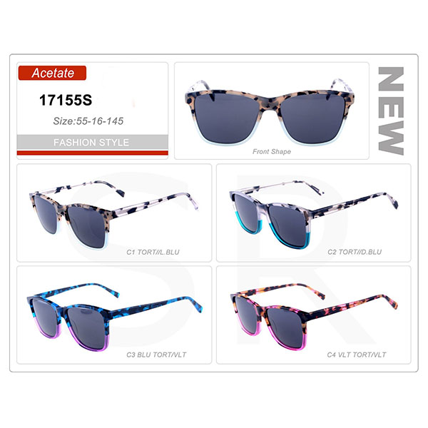 Newest Model Stock Small Order Acetate Frame Sunglasses
