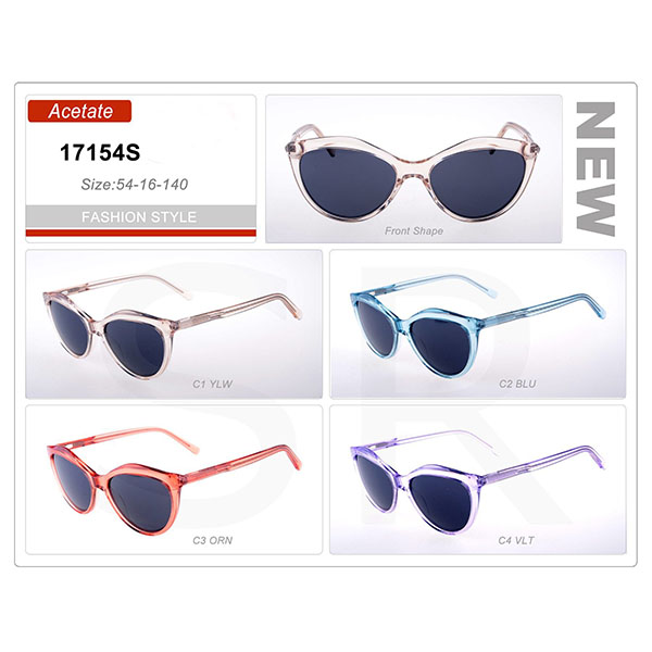 Newest Product Small Order Acetate Frame Sunglasses