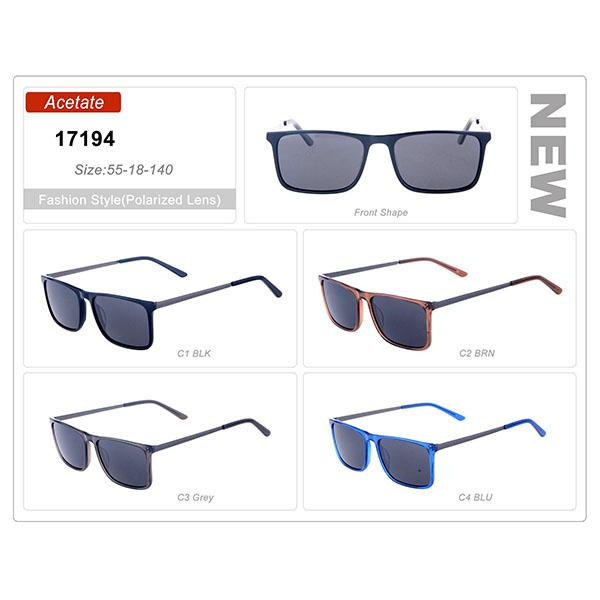 Top Quality Designer Ready Stock Fashion Acetate Frame Sunglasses