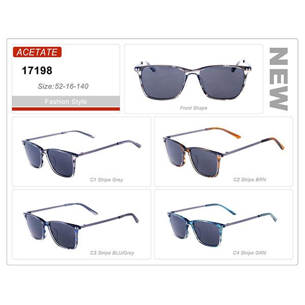 Top Rank Design Acetate Frame Sunglasses