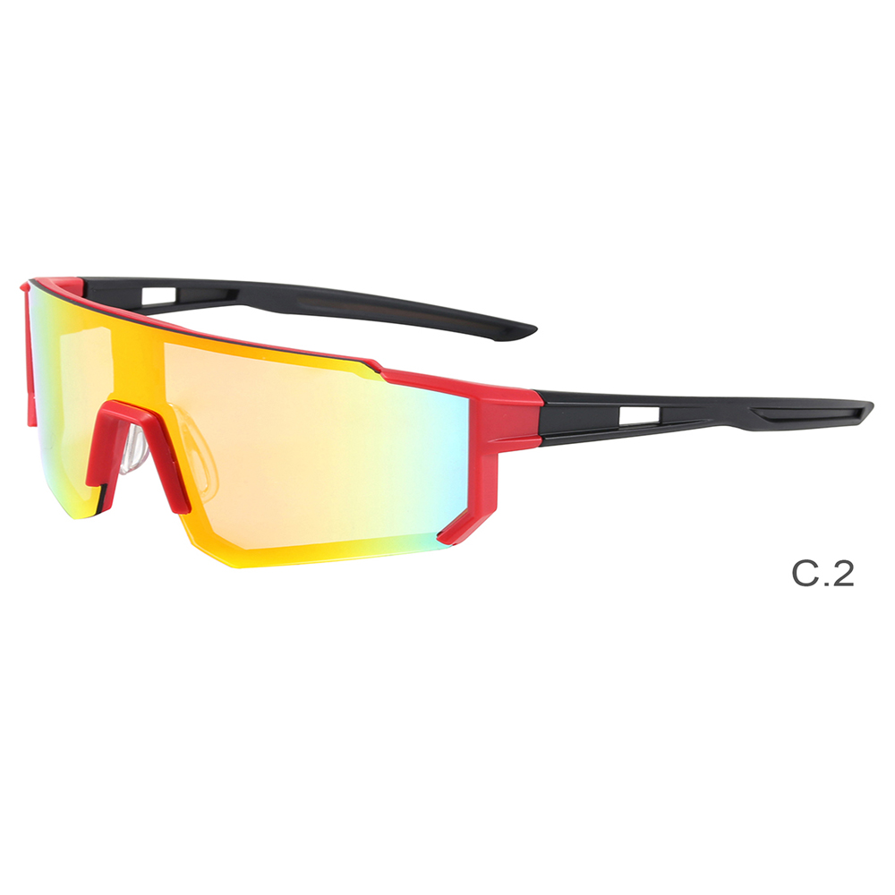 New Frame Mirrored Lens Windproof Cycling Sport Sunglasses for Men Women