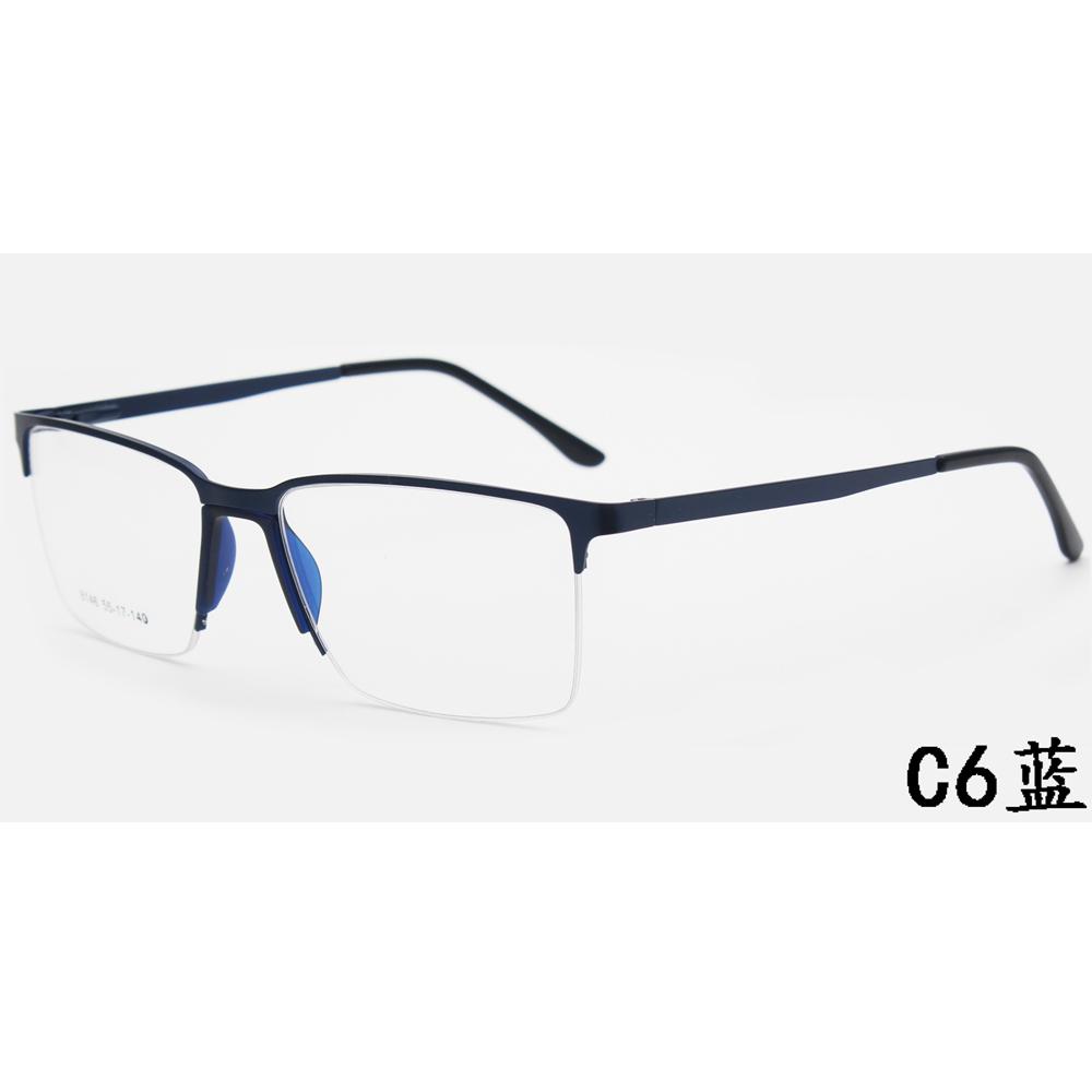 2021 Wholesale Rectangle Eyeglasses Frames Blue Light Filter Computer Women Men Metal Glasses