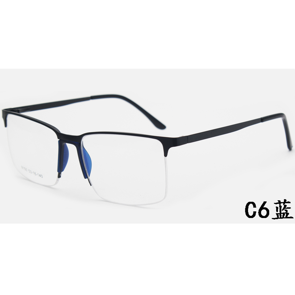 2021 Fashion Eyeglasses Metal Optical Glasses Injection Optical Frames Spectacles Eyewear