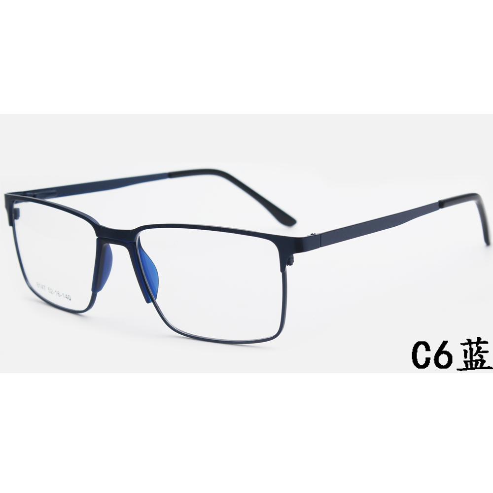 Wholesale Square Pc Blue Light Filter Metal Glasses Italian Eyeglass Framesoptical Frame New Fashion Style for Women Men