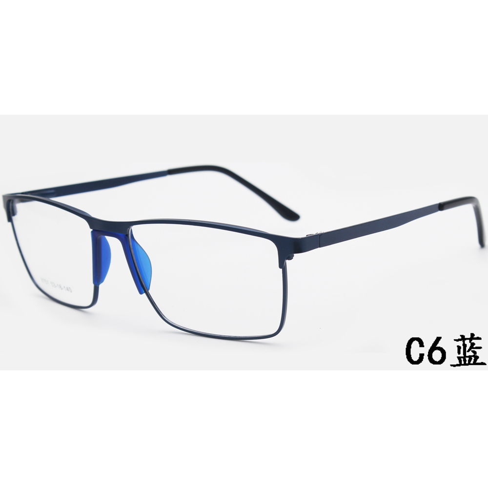 Classic Metal Double Bridge Optical Eyeglasses Frame for Men Coating Lens Eyewear Glasses Women