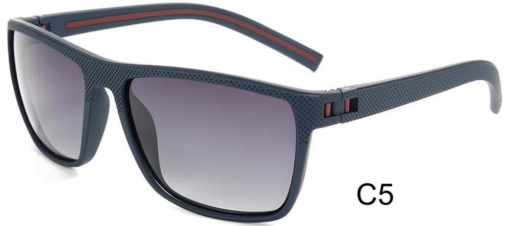 New Arrival Stylish Custom Logo Sun Glasses Plastic Frame Temple Sunglasses Men Women